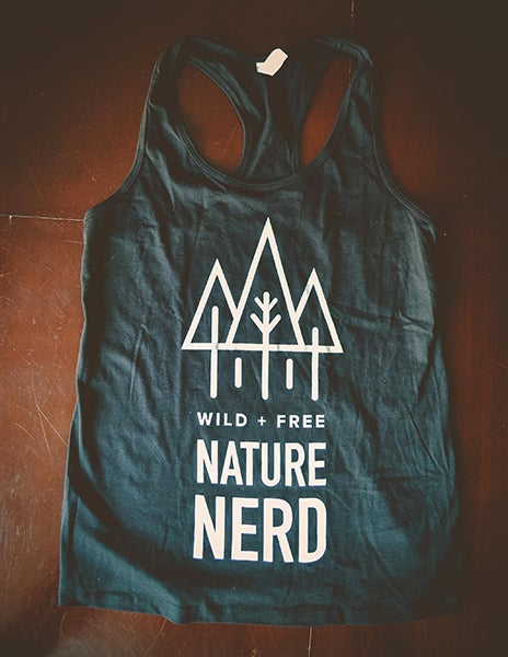 Image of Nature Nerd Racerback Tanks