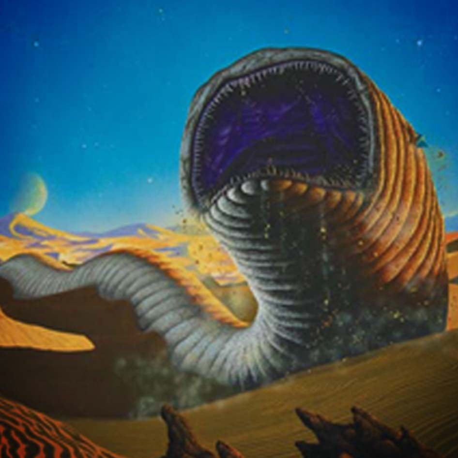 Image of Alien Landscapes (2) – Sandworm, from Dune A4/A3 prints