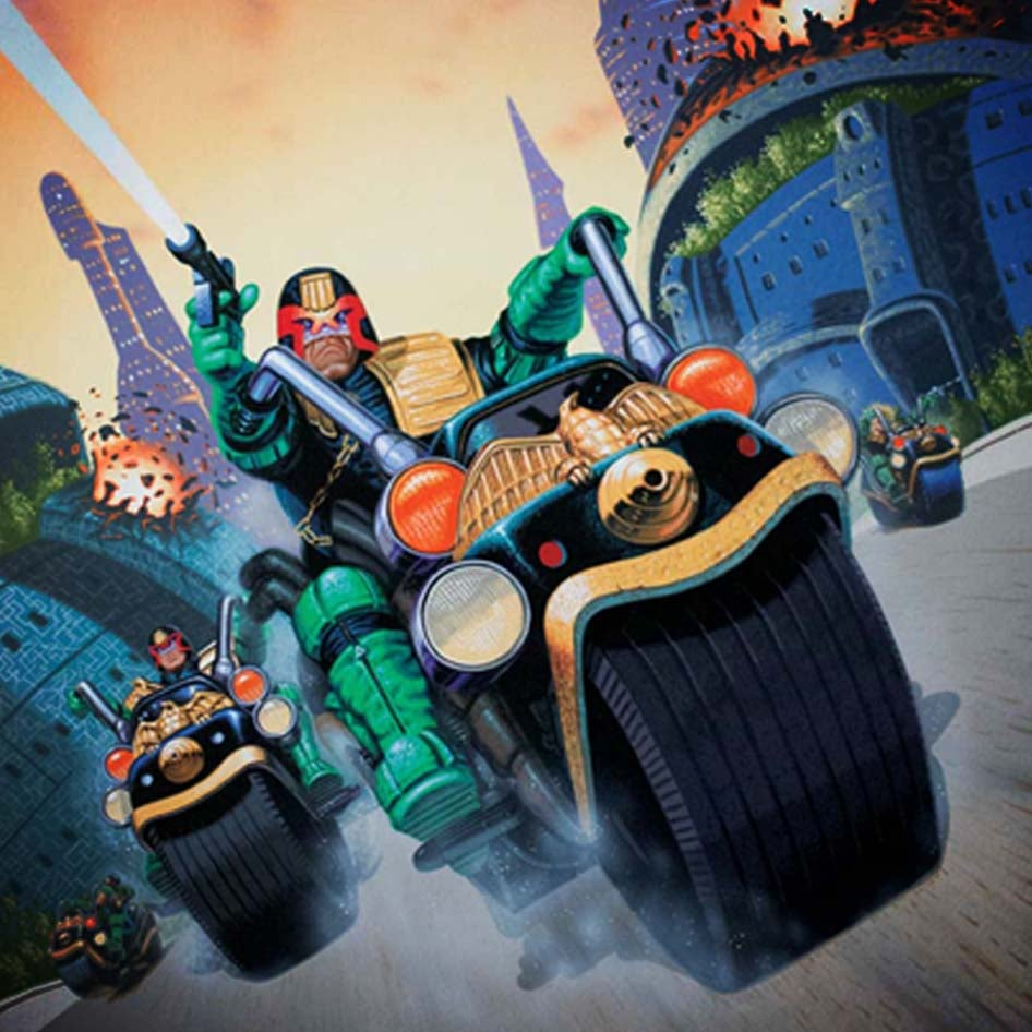 Image of Judge Dredd A2 poster