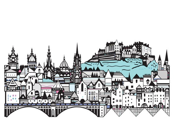 Image of Edinburgh Skyline small digital print