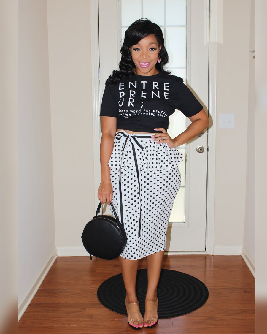 Image of Peplum Pencil Skirt