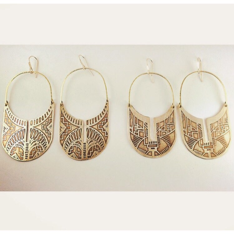 Image of Brass Sherah Hoops