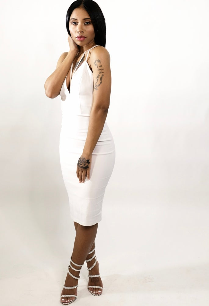 Image of White cocktail dress