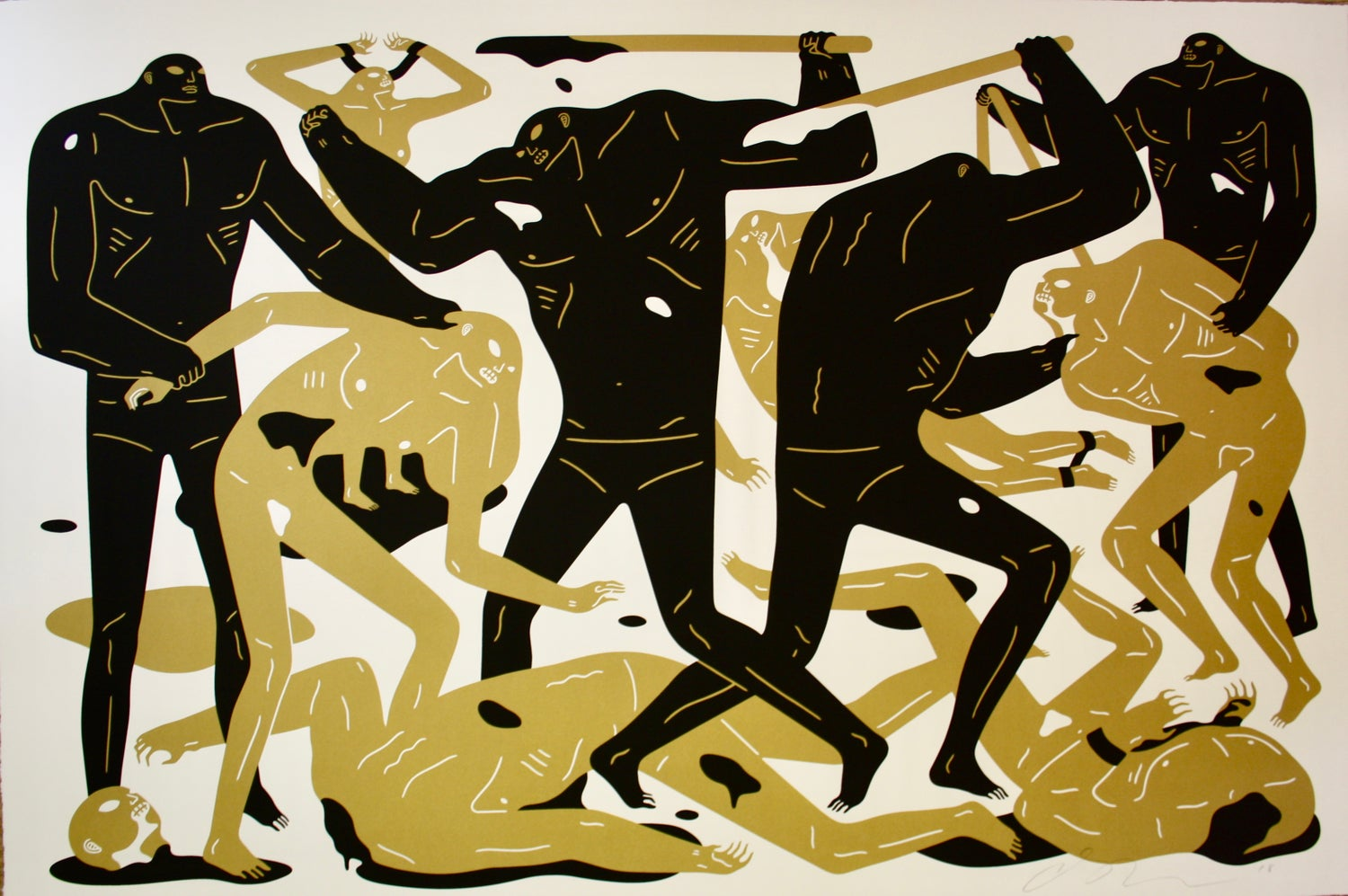 """Cleon Peterson - """"Between Man and God"""" - White"""