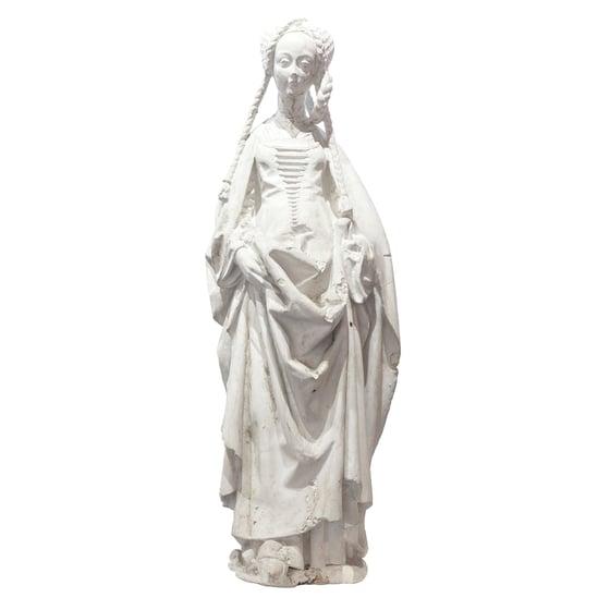 Image of Escultura dama gótica / Francia / S. XIX