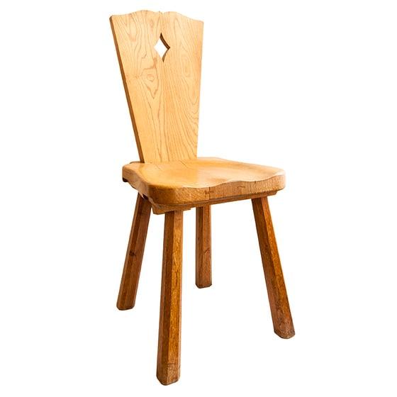 Image of Pareja de sillas de fresno / Suiza/ Años 70