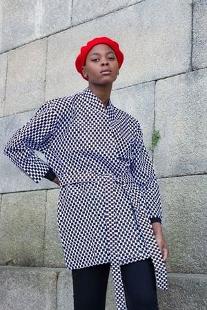 Image of Little Squares Kimono 50% Off