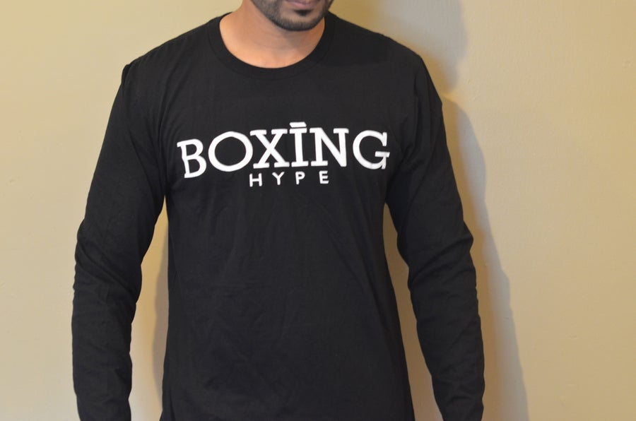 Image of Mens BoxingHype Long Sleeve Logo tees