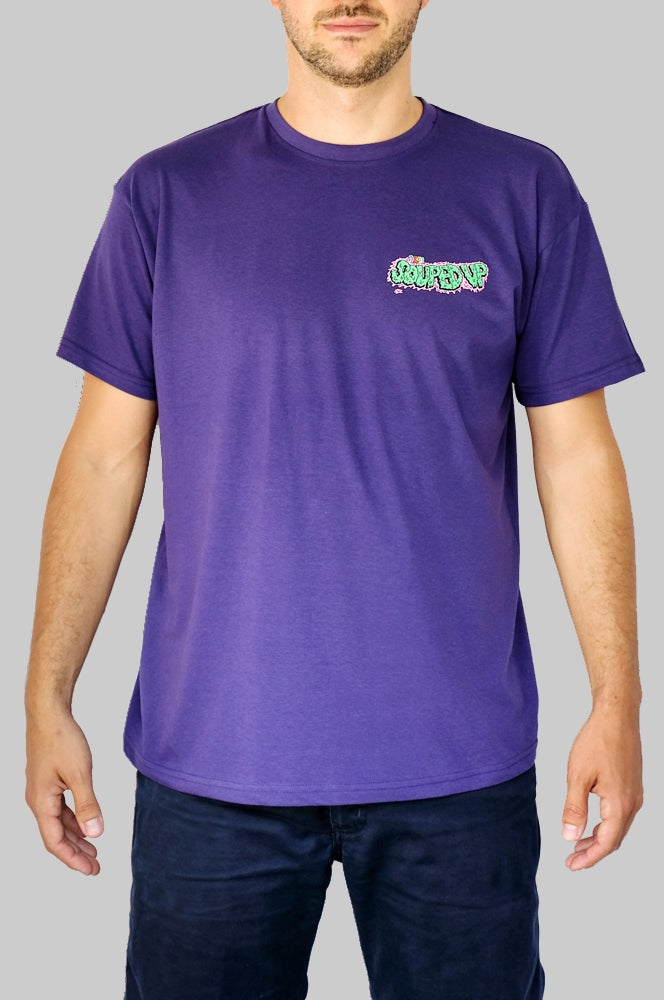 Image of SOUPED UP RECORDS T-SHIRT (PURPLE)
