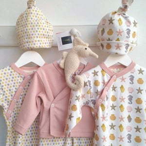 Image of Organic Cotton Seaside Baby Clothing
