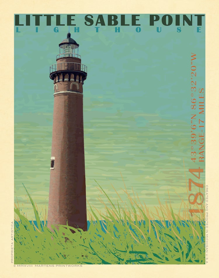 Image of Little Sable Point Print No. [033]