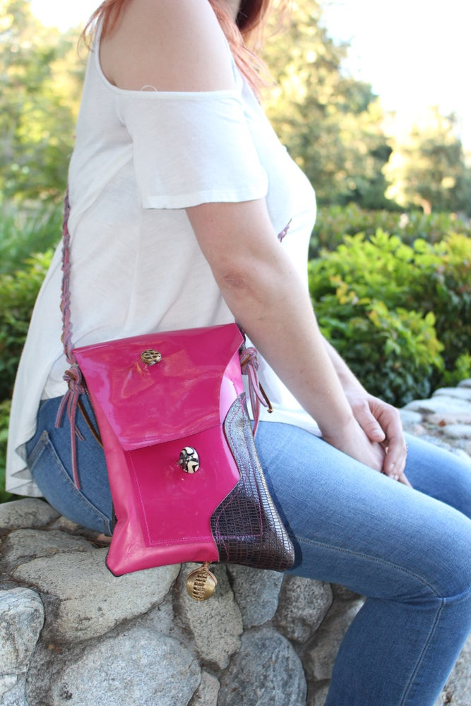 """Image of Pink Leather """"Helen"""""""