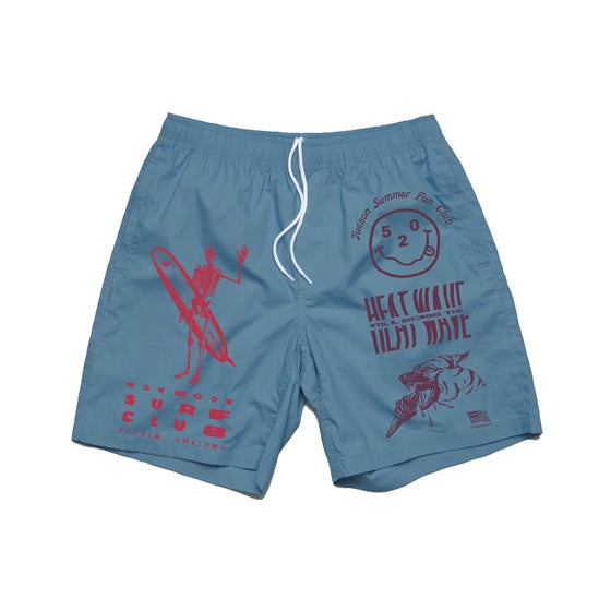 Image of Heat Wave Beach Shorts - Blue