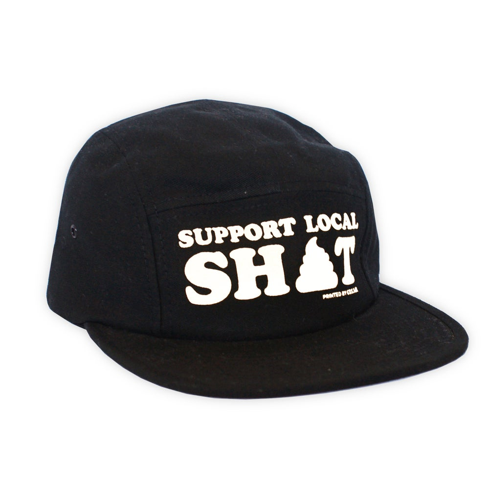 Image of Support Local Sh*t - Black Camper Cap