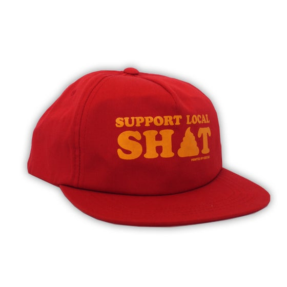 Image of Support Local Sh*t - Red Snapback