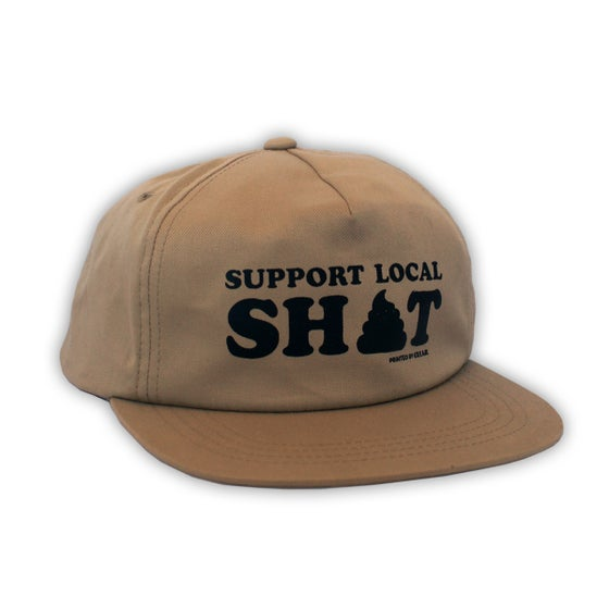 Image of Support Local Sh*t - Tan Snapback