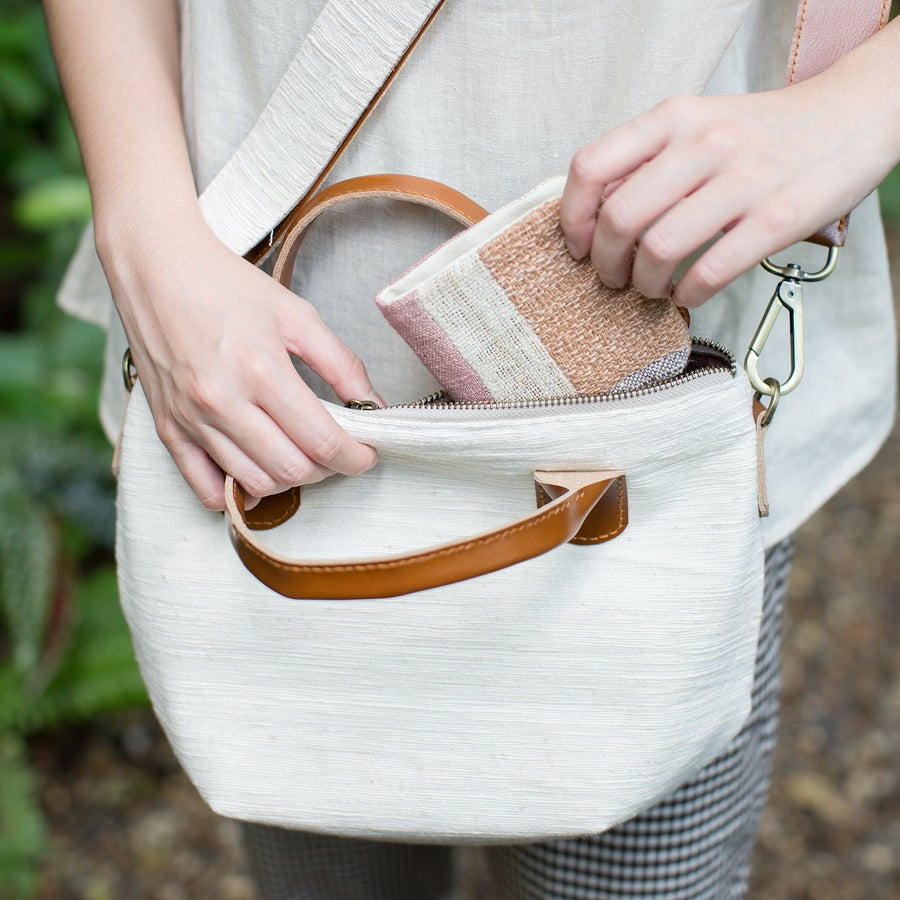 Image of Handmade Vegan-Friendly Wallets Hand Woven and Botanical Dyed Cotton