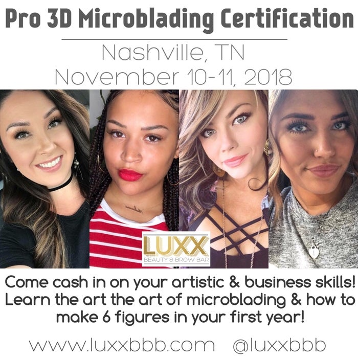 Image of November 10 - 11 NASHVILLE - Pro 3D Microblading Certification 11/10-11/11