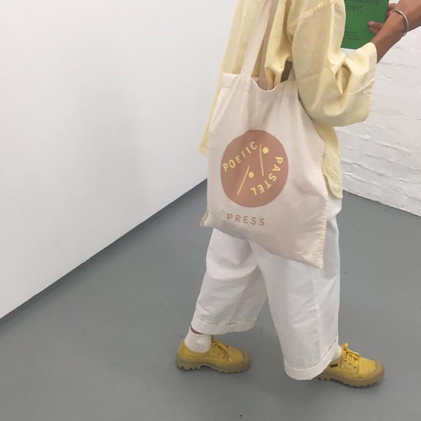 """<span style=""""color: #f4cccc;""""> LAST PIECES </span> Poetic Pastel Press - Cotton Bag"""