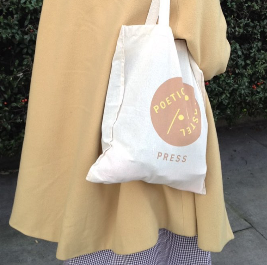Image of Poetic Pastel Press Cotton Bag