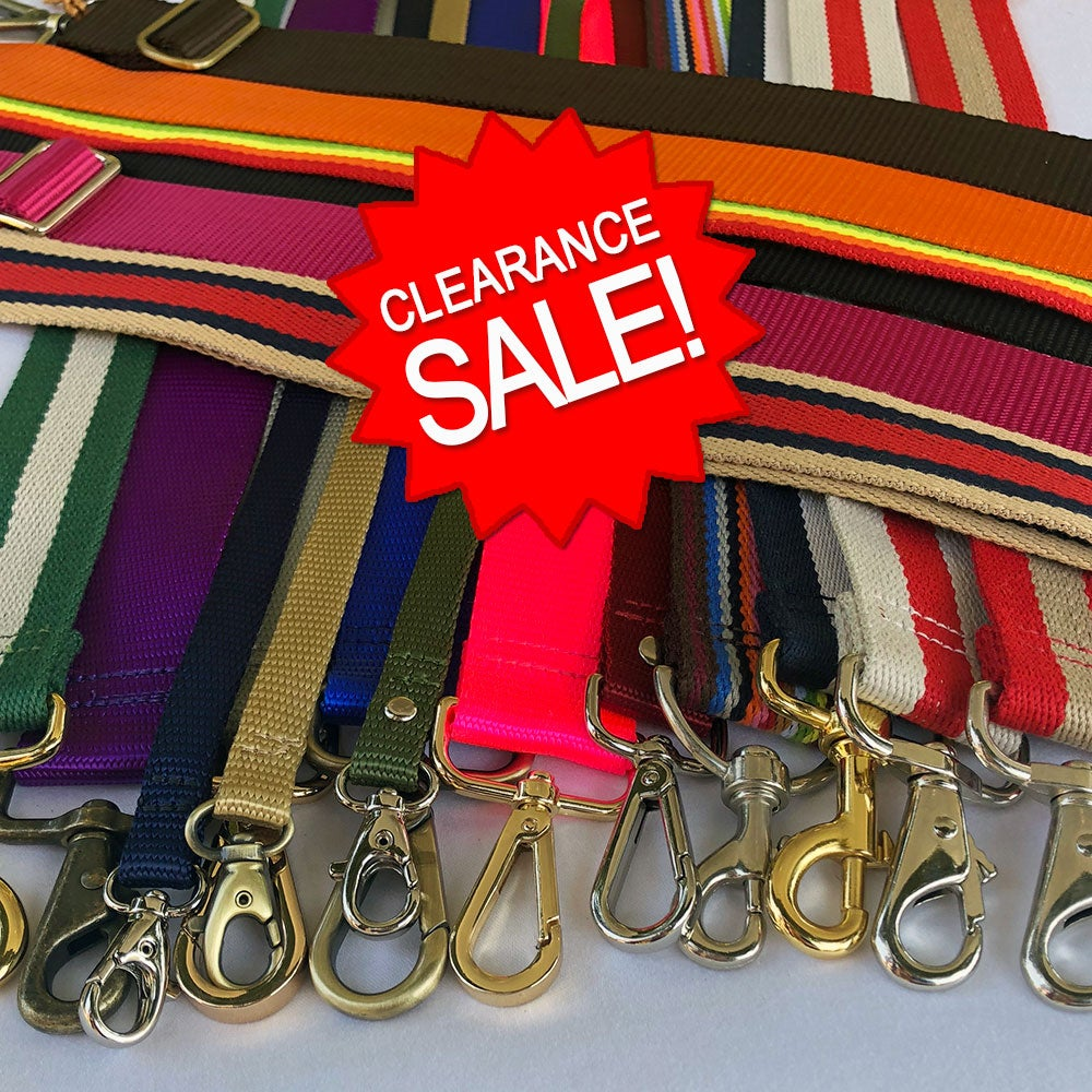 Image of Clearance Sale - Cotton & Nylon Straps - 1/2 to 2 inch Wide - Your Choice - Limited Inventory