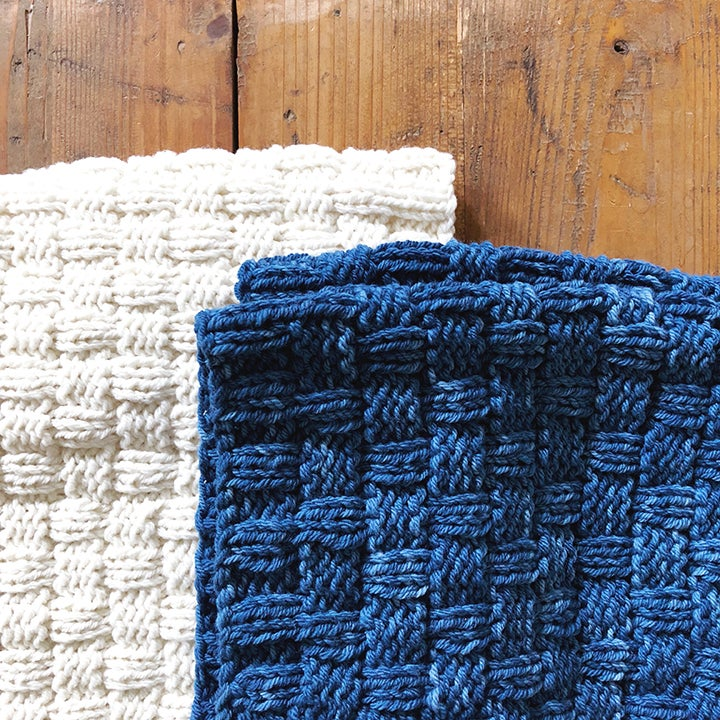 Image of Double Basketweave Cowl knit kit