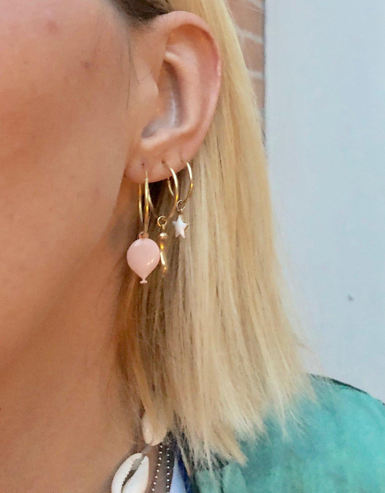 Image of Mono Orecchino ciondolo personalizzato oro rosa