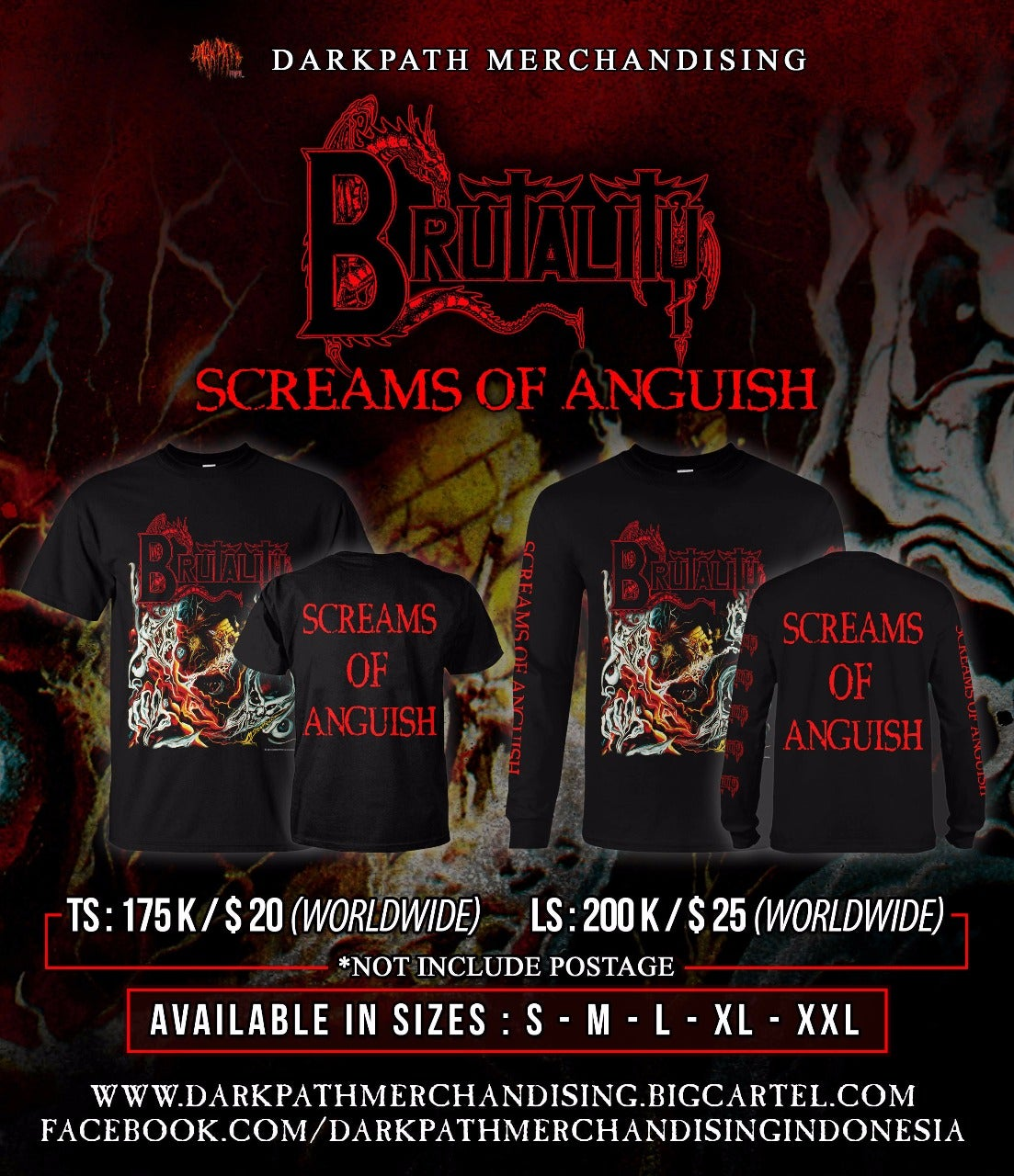 Image of BRUTALITY - Merch 3 Designs SS & LS