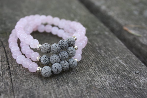 Image of Rose Quartz Diffuser Bracelet