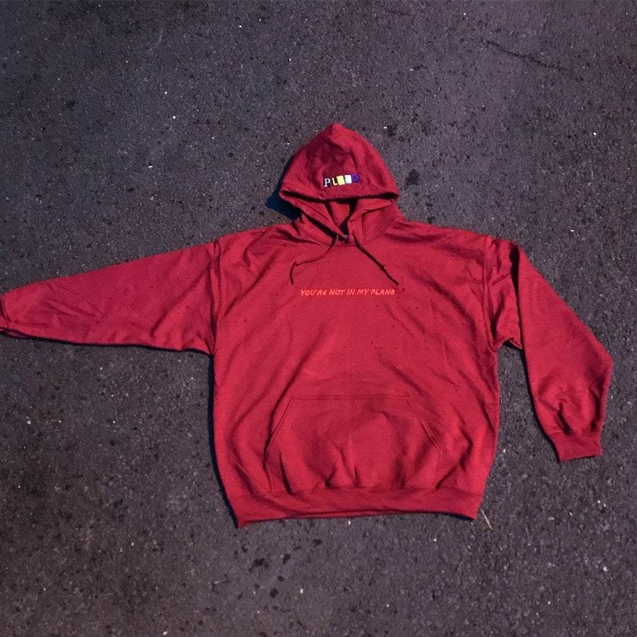"""Image of """"PLANS"""" // OXBLOOD PULLOVER"""
