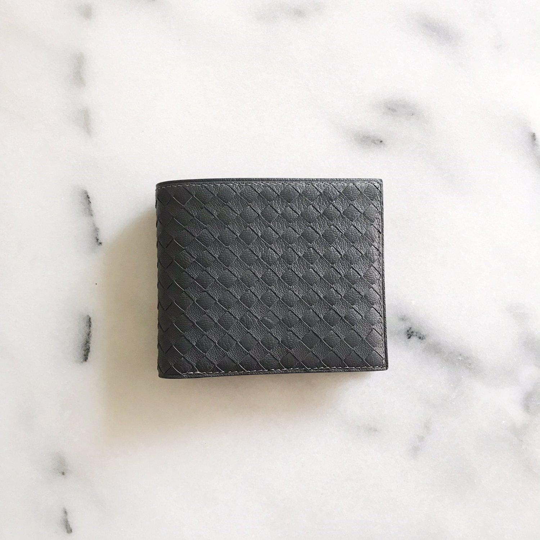 Image of Intrecciato grey contrast wallet