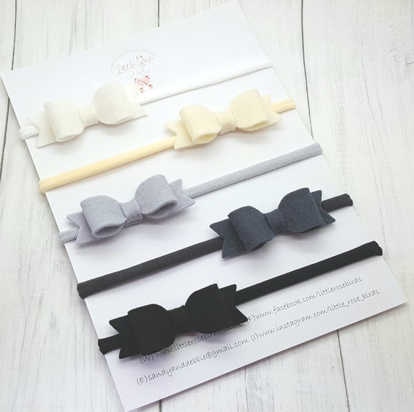 "Image of Small 2.5"" Mono/Neutral Bow Set"