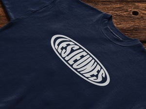 Image of Round Logo Tee in Navy