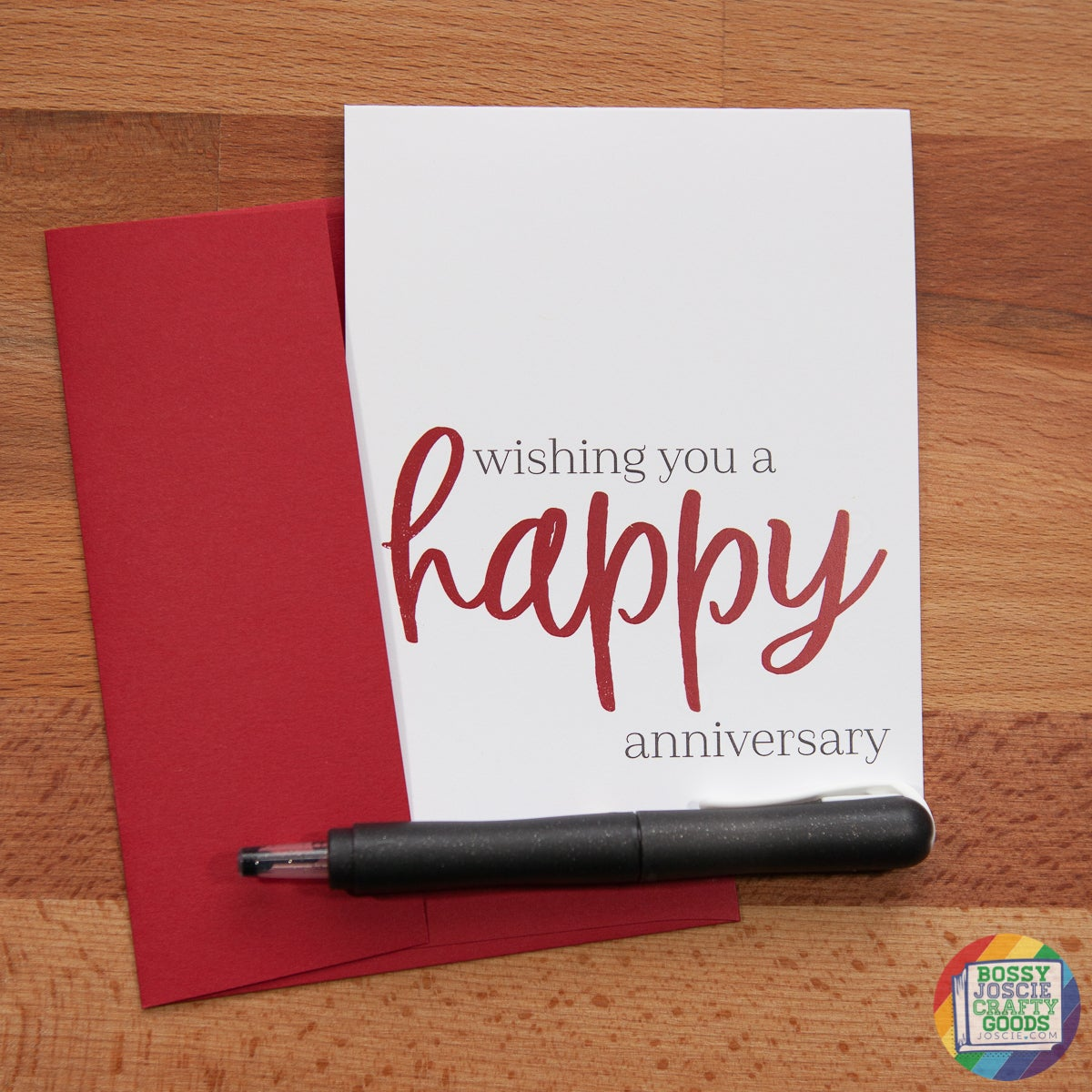 Image of wishing you a happy anniversary card