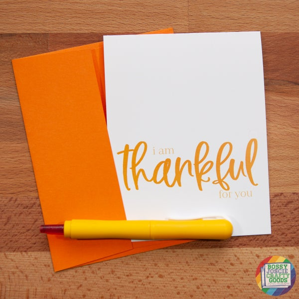 Image of I am thankful for you card