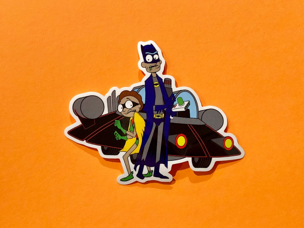"""Image of Rickman and Morty Sticker- 3.7"""""""