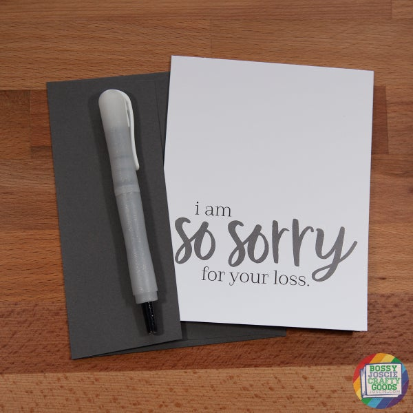 Image of I am so sorry for your loss card