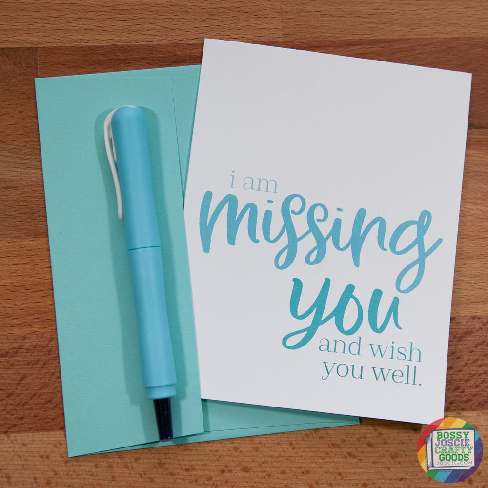 Image of i am missing you card