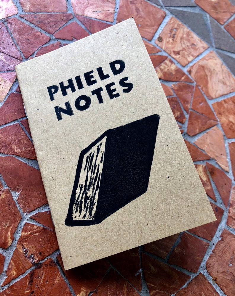 Image of Phield Notes notebook/setlist book