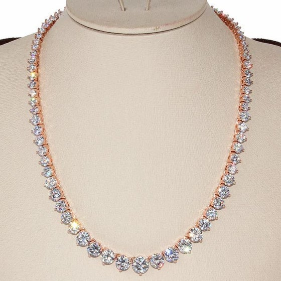 Image of CZ Gradual Pave Necklace