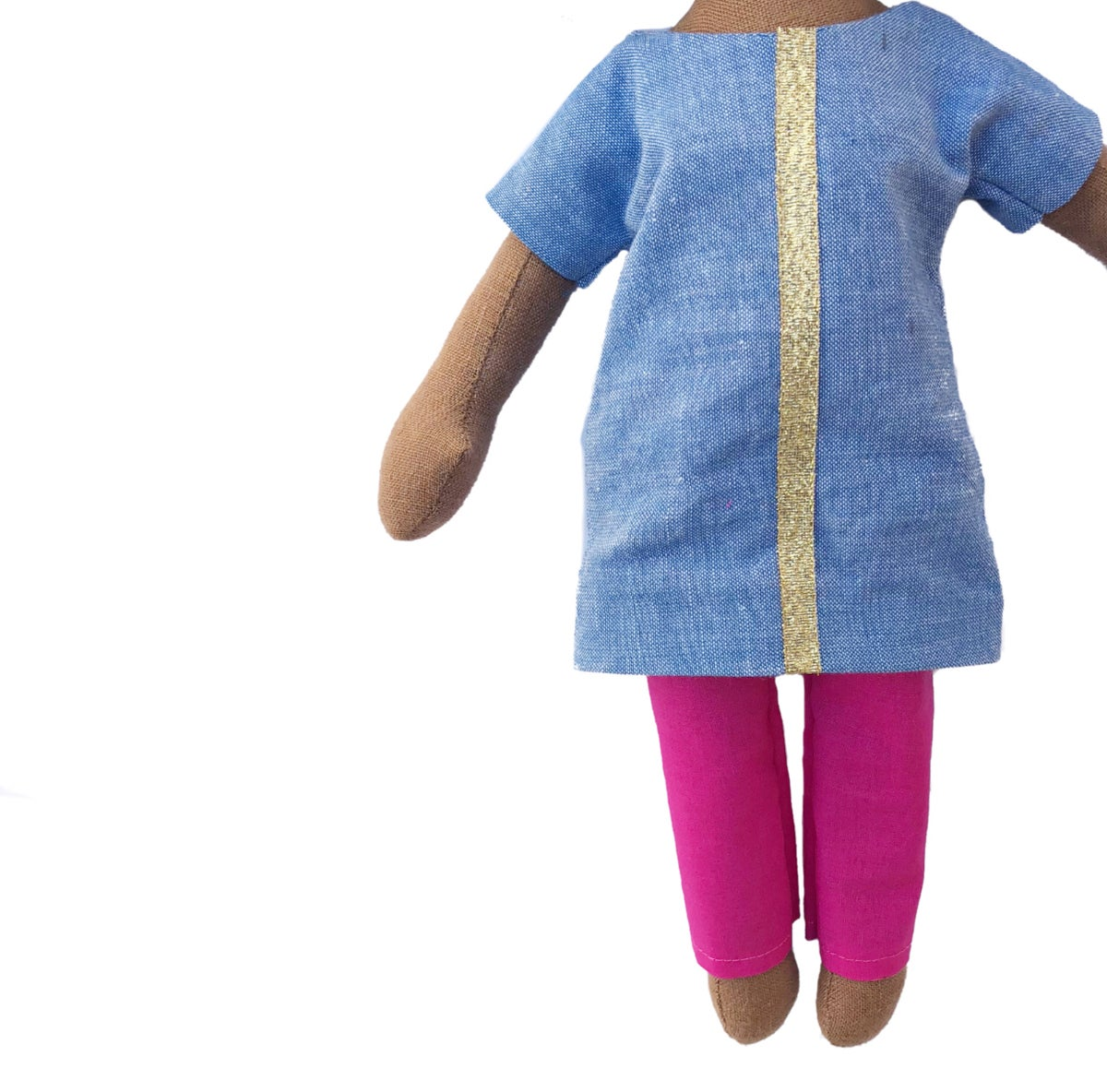 Image of Blue tunic w| pink pant - Doll Accessory