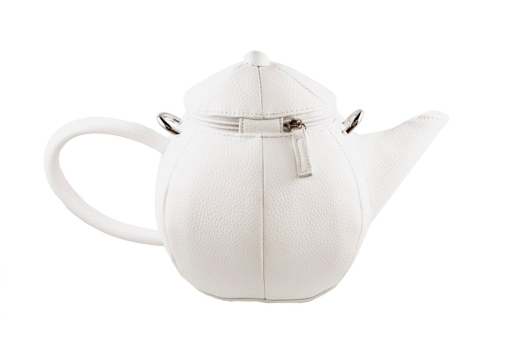 Image of Round Teapot w/Long Strap or Chain (2 colors)