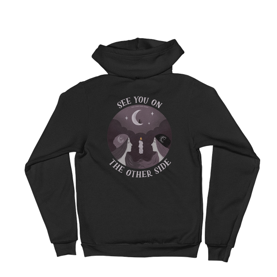 Image of SEE YOU ON THE OTHER SIDE - UNISEX ZIPUP SWEATSHIRT