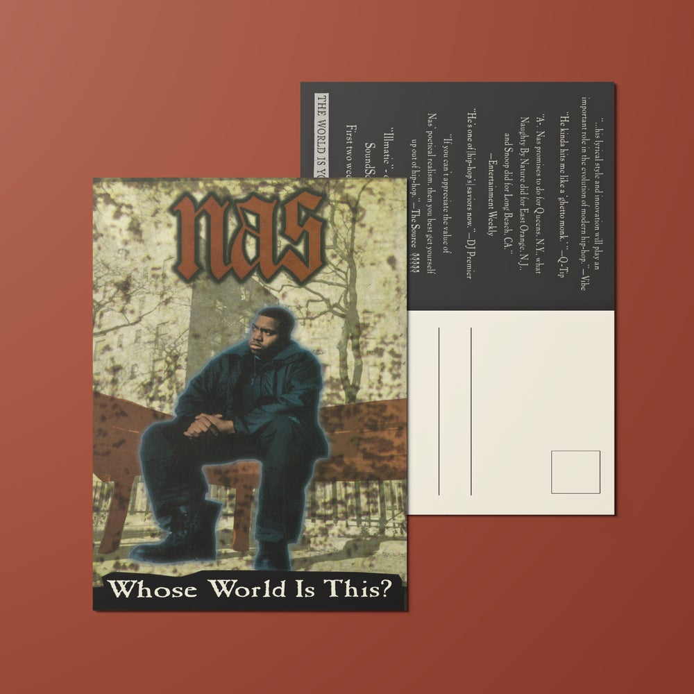 "Image of Nas, Tribute to Illmatic, 4x6"" Postcard Whose World Is This?"