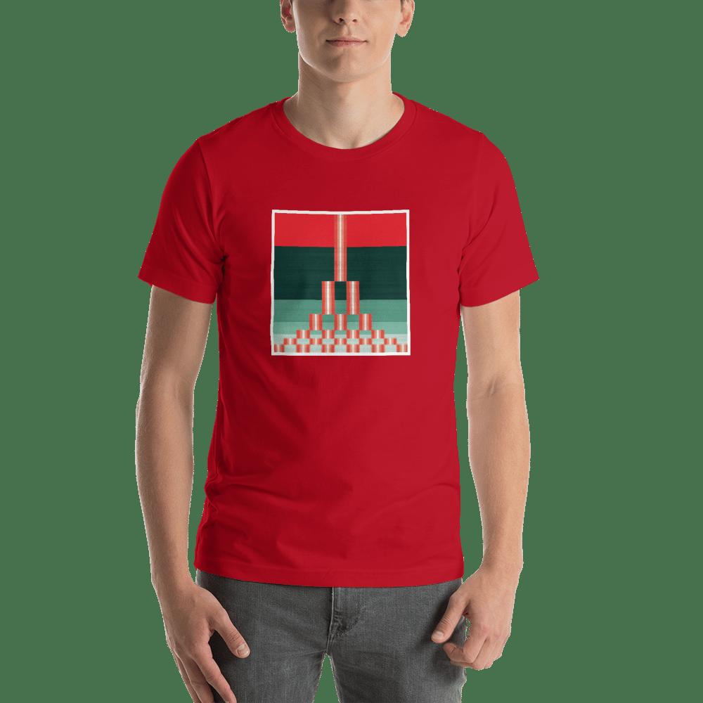 Image of Estuary Men's T-Shirt - RED