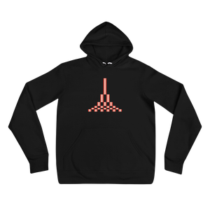 Image of Estuary Pyramid Unisex Hoodie - BLACK