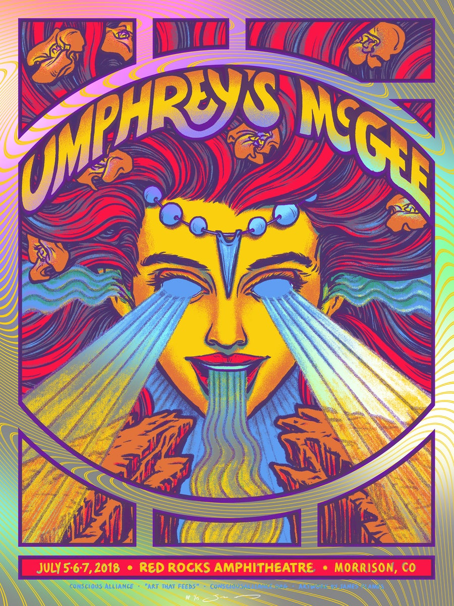 Image of Umphrey's McGee - Red Rocks 2018 - Rainbow HoloFoil Variant