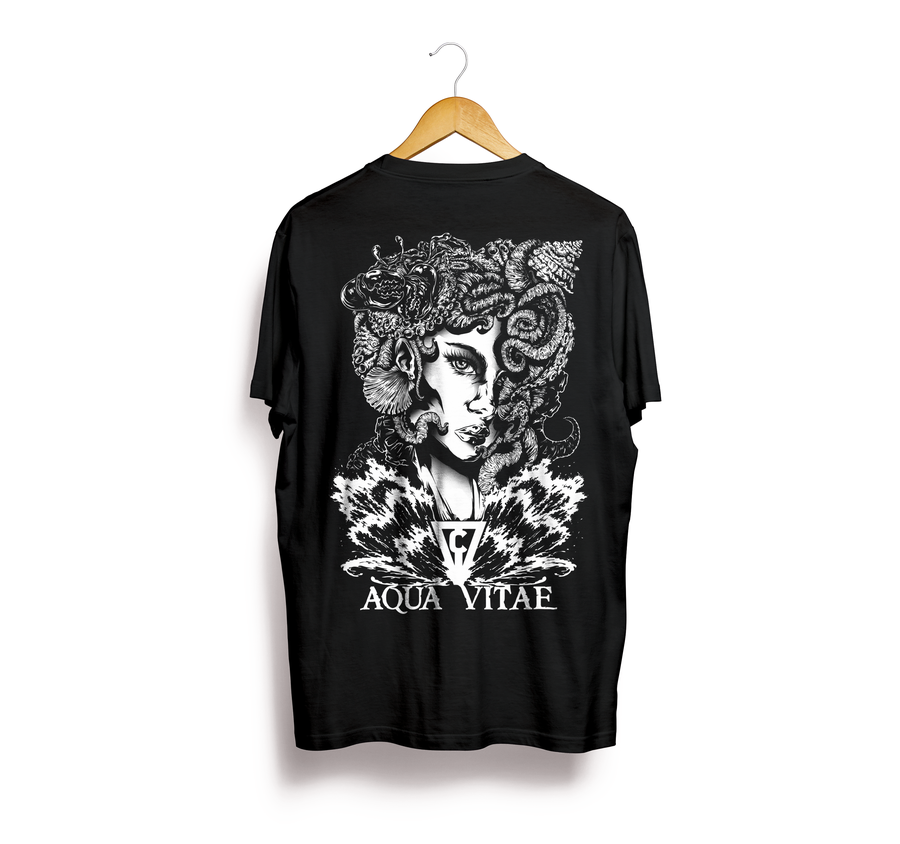 Image of T-Shirt Aqua Vitae Goddess (Black)