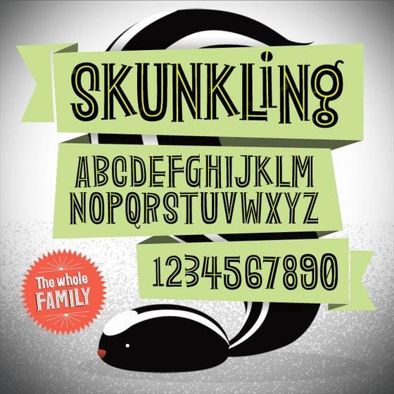 Image of Skunkling Font Family