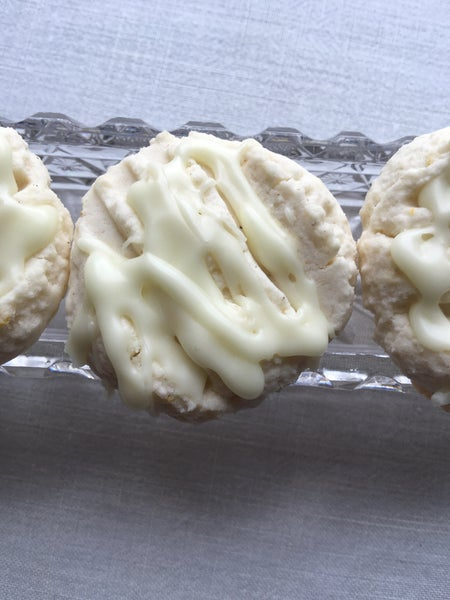 Image of GLUTEN FREE - Lime Cookies with a Lime Drizzle - TWO DOZEN
